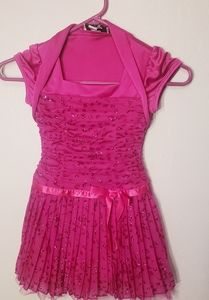 Girl's party dress pleated